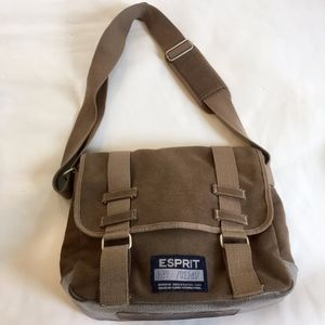 Vintage Esprit Canvas Crossbody Messenger Bag